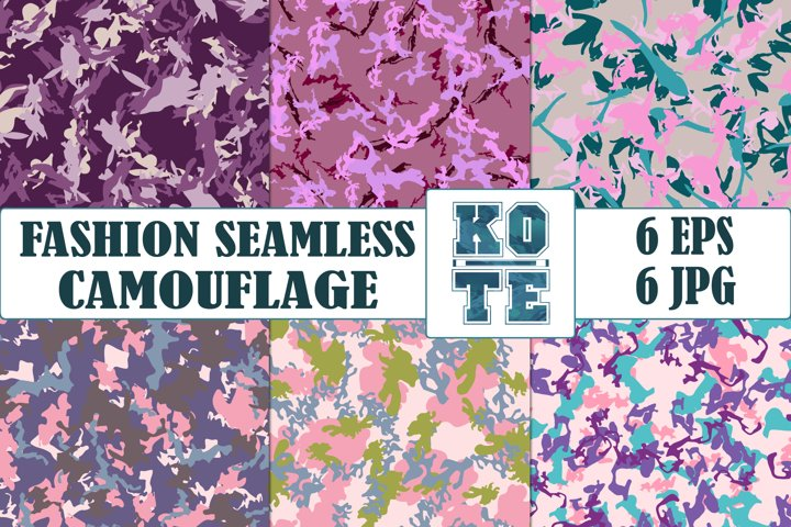6 Seamless Fashion Camouflage