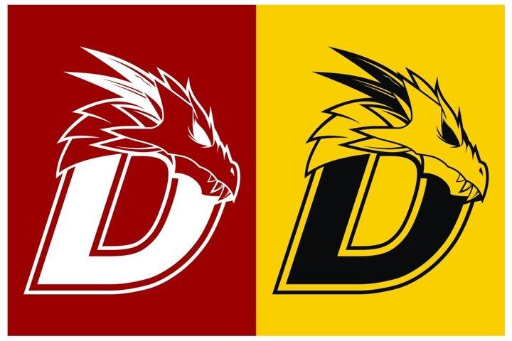 Letter D and Dragon Head Logo Design