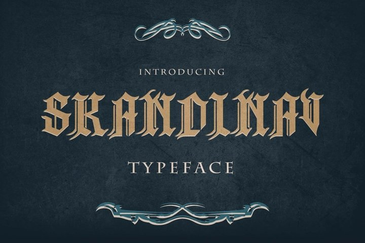 Skandinav Typeface with free illustrator