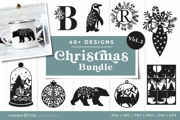 Vol.2 Christmas Bundle SVG Bundle Cut Files