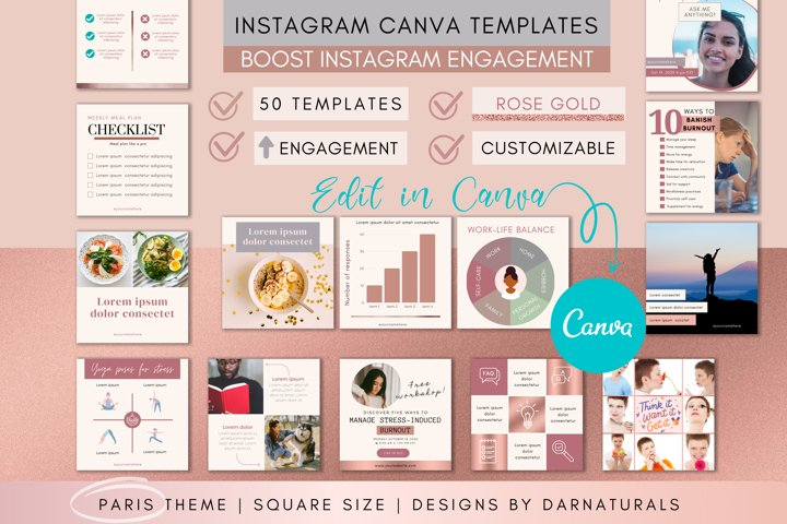 Instagram Template | Coaches Instagram Pack with Canva