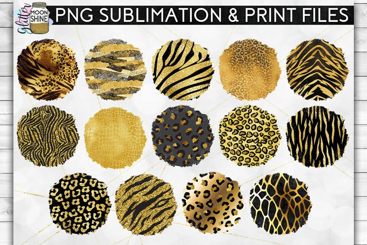 Glam Animal Print Bundle of 42 Sublimation Background PNG example 1