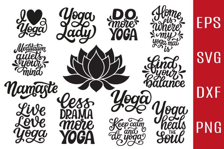 12 Yoga Designs SVG Bundle