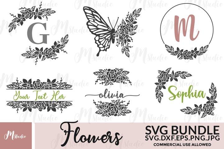 Flowers SVG Bundle. S4