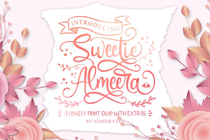 Sweetie Almeera Font Duo