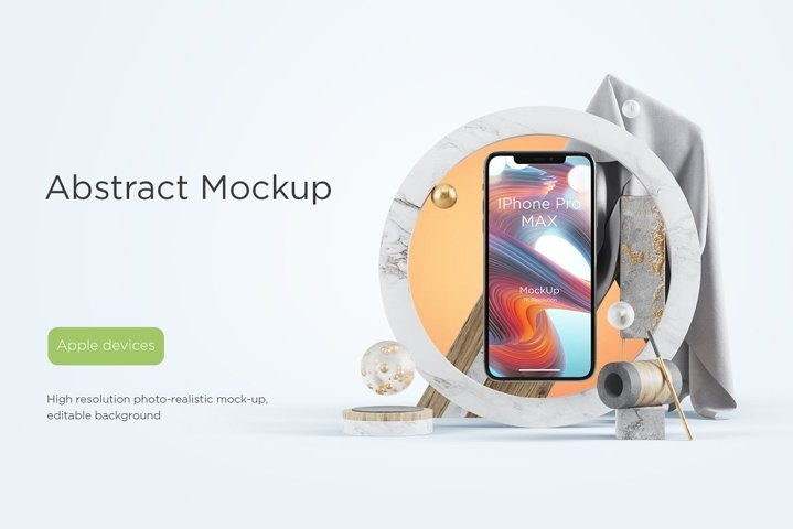 Abstract Mockups Apple Devices