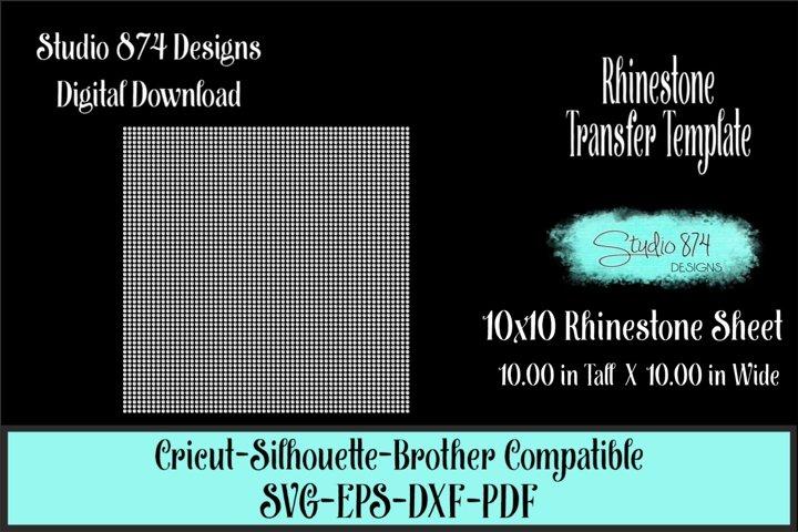 Rhinestone Sheet 10x10 Template Digital Download