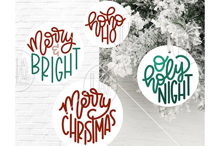 Christmas Ornament SVG set, Christmas Design Set