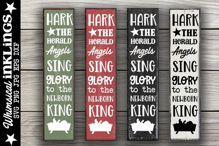 Hark The Herald Angels Sing-Vertical Christmas SVG
