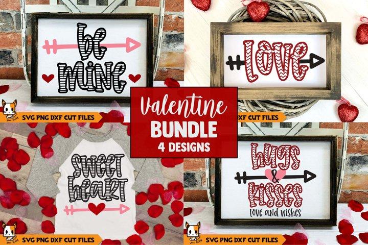 Valentines Day SVG Bundle | Chevron & Stripes
