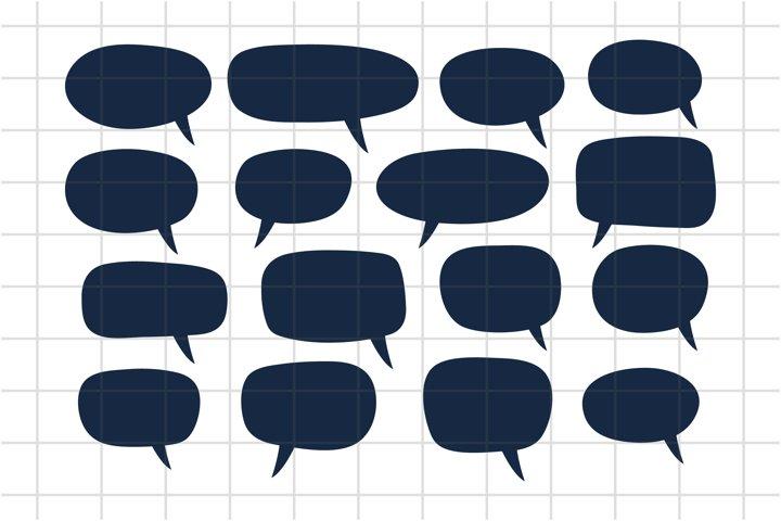 Speech Bubbles, Chat Bubbles in SVG, PNG, AI, EPS. Cut File.