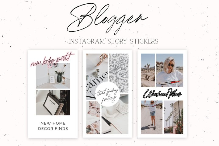 Blogger Instagram Story Stickers
