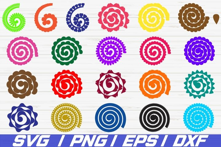 21 Rolled Paper Flowers SVG / Cut File / Flowers Template