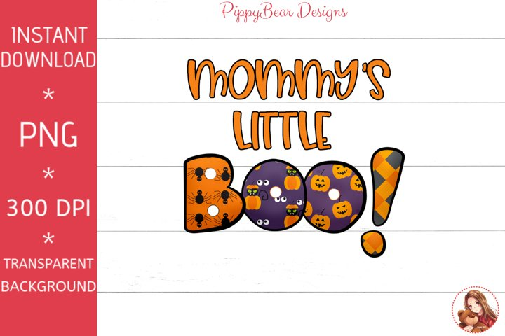 Mommys Little Boo Orange Letters