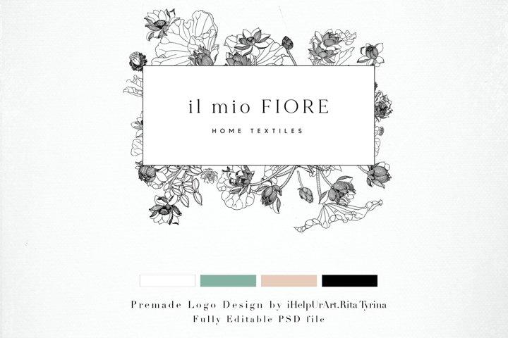 Floral Logo Design - DIY Logo - Floral Frame Logo