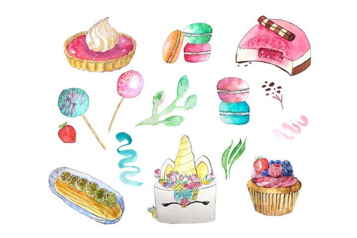 Sweet bundle, sweet clipart, food bundle