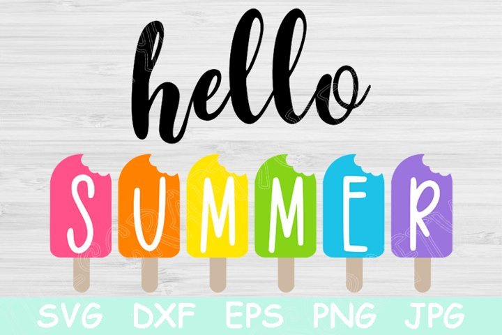 Hello Summer Svg, Summer Quote Svg Files for Cricut.