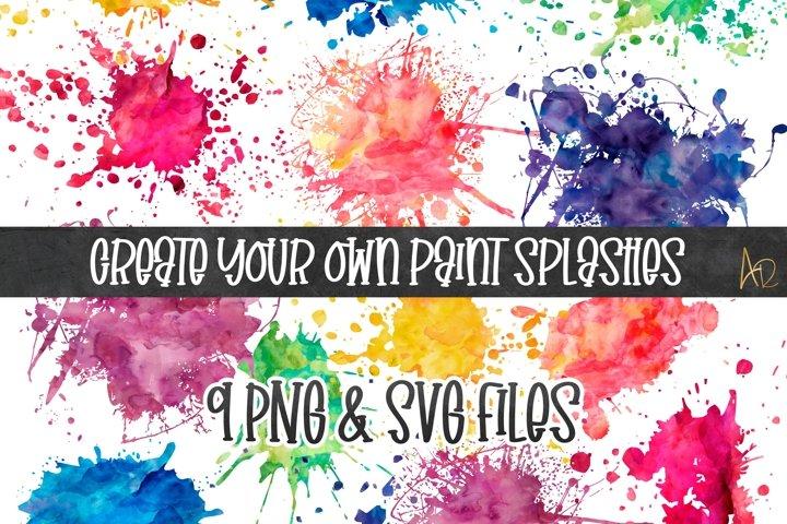 Sublimation Background Colour/Paint Splashes PNG bundle PNG
