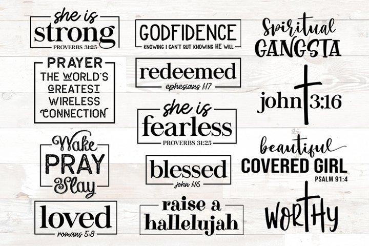 Christian svg, Christian bundle, Christian quotes