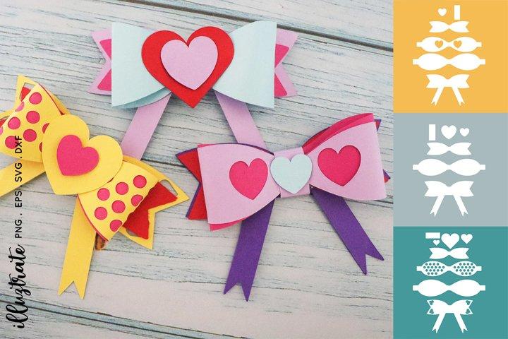 Paper Craft Bows SVG | 3d Bows SVG Cut File | Bow SVG Cut