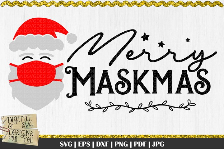 Merry Maskmas svg | Merry Christmas svg | Christmas quote