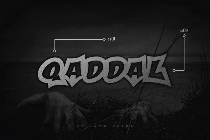 Qaddal Graffiti Font