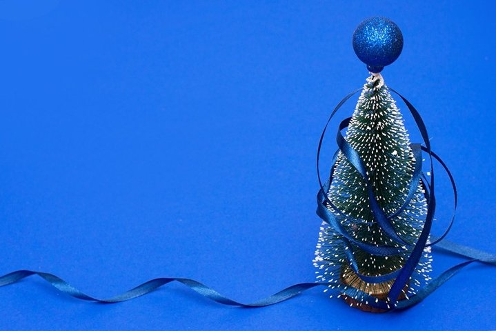 Christmas and New Year classic blue background