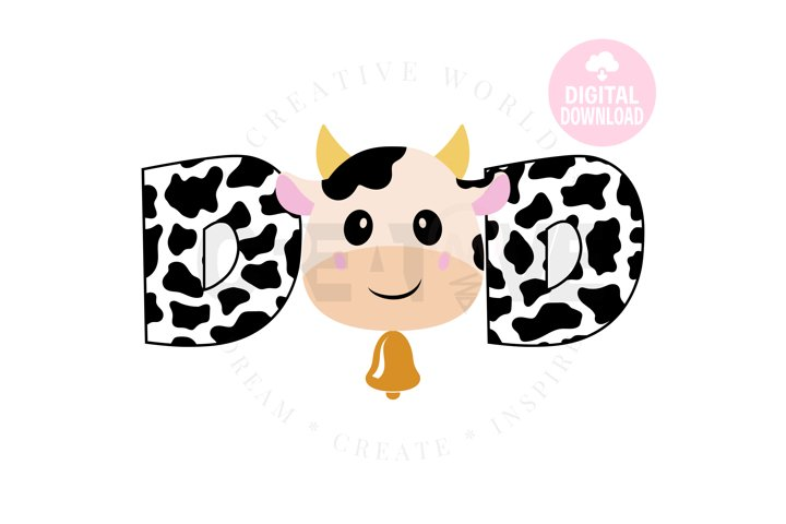Dad of the Birthday Girl svg | Cow | Cow svg