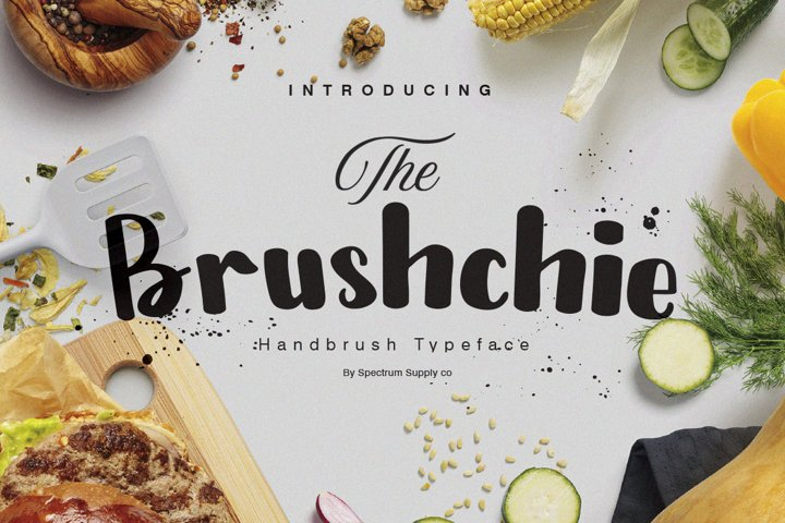 Bruschie Handbrush Typeface