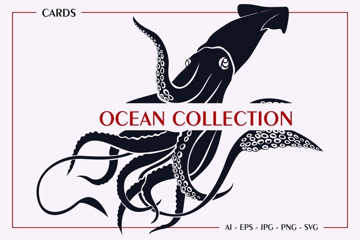 Ocean Collection Design and SVG Cut File