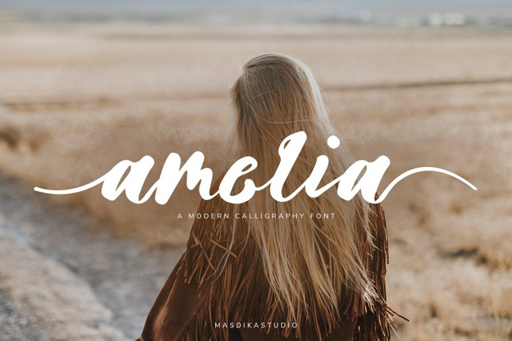 Amelia Modern Calligraphy Font