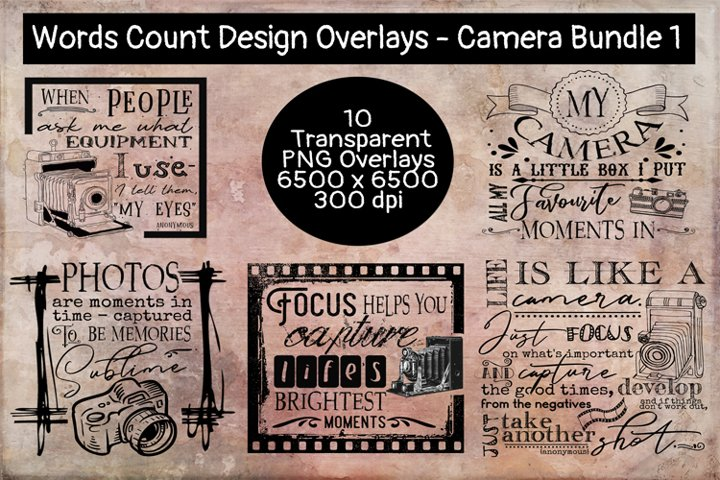 Camera/ Photography Overlay Bundle #1
