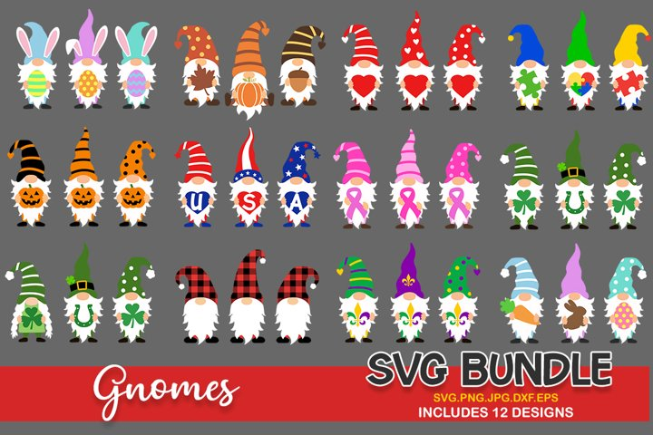 Gnomes svg bundle