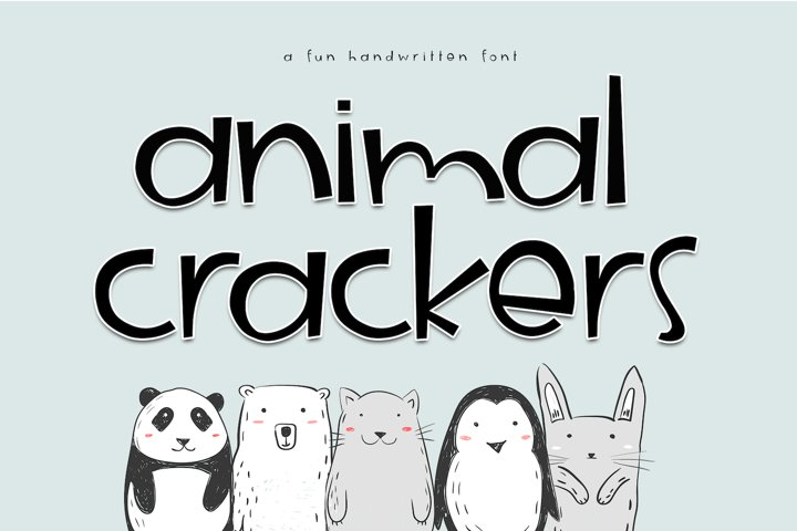 Animal Crackers - A Fun Handwritten Font - Free Font of The Week Font
