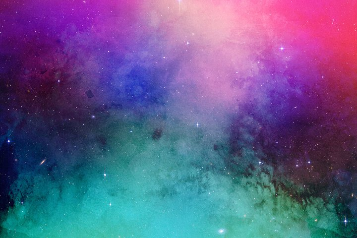 Space Watercolor Backgrounds - Free Design of The Week Design4