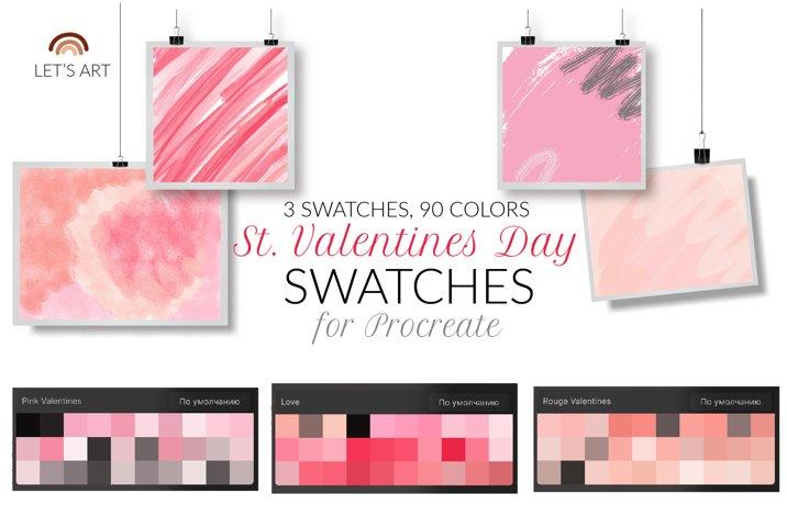 Valentines day Procreate swathces. Love color palette.