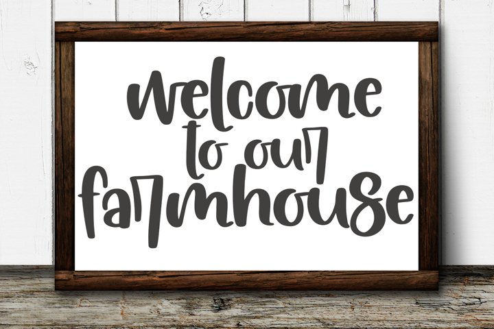 Farmhouse Flowers - A Quirky Hand-Lettered Font - Free Font Of The Week Design0