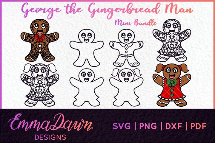 GEORGE THE GINGERBREAD MAN SVG MINI BUNDLE 8 DESIGNS