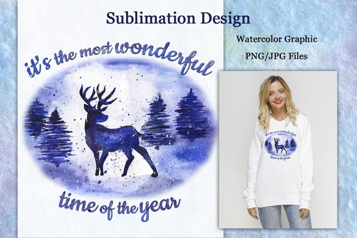 Sublimation Design Its the most wonderful time of the year