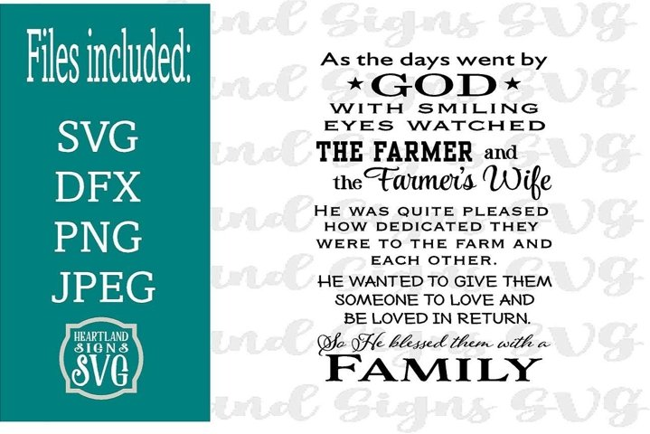 God Blessed Farmer with Family SVG
