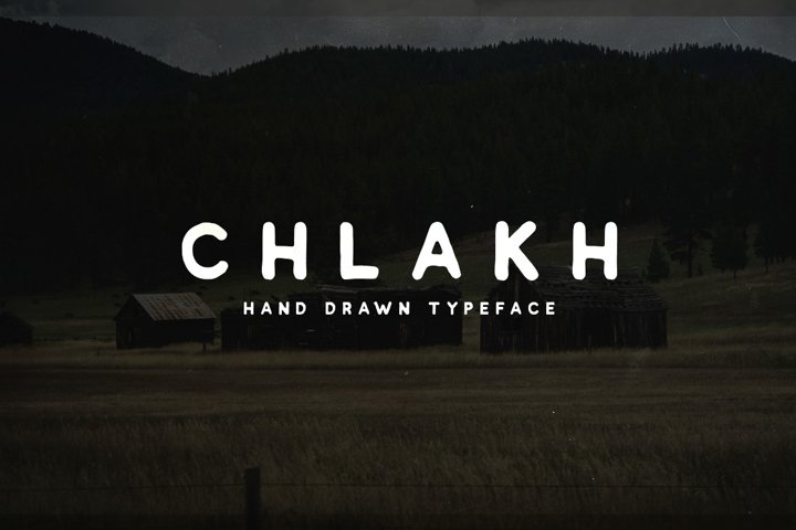 Chlakh - Hand Drawn Typeface example