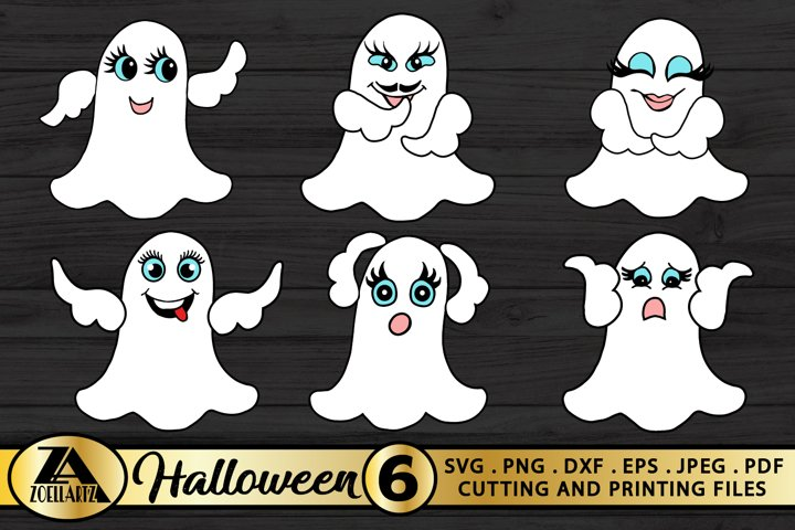 Halloween SVG Bundle-Hand Drawn Boo Illustrations-Ghost SVG