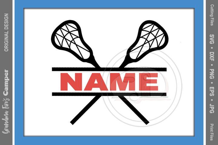 Lacrosse SVG, Lacrosse Personalize SVG, Lacrosse Split Name