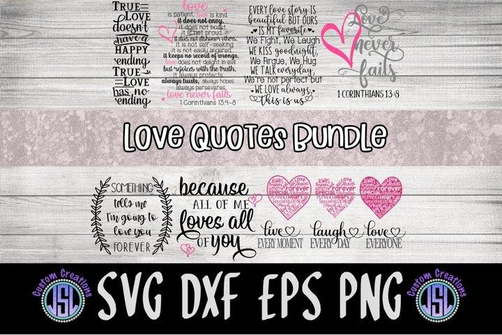 Love Quotes Bundle | Set of 10 Bundle | SVG DXF EPS PNG
