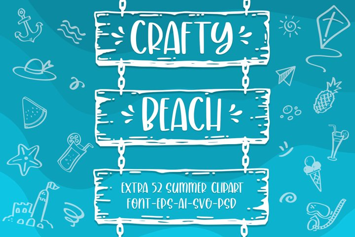 Crafty Beach -extra summer clipart-