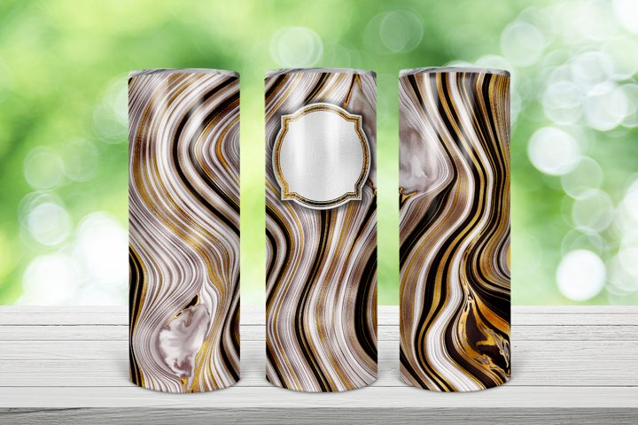 Geode Monogram 20 Oz. Skinny Tumbler Wrap Design