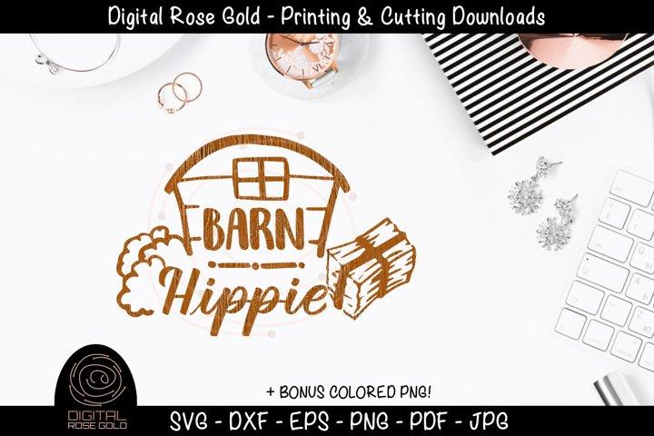 Barn Hippie - Funny Animals Farm SVG, Farm Decor, Barn SVG