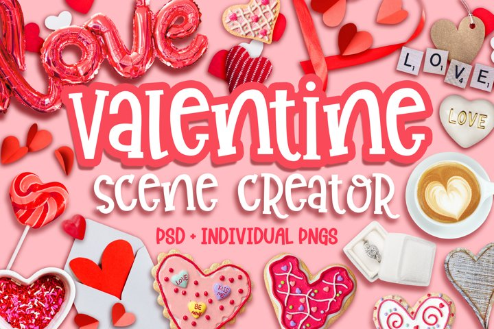 Valentine Scene Creator - Movable Elements and PNGs