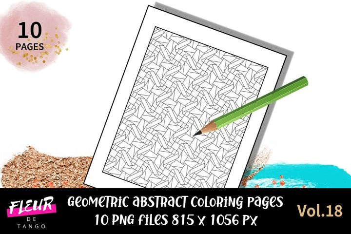 10 abstract pattern coloring pages vol.18