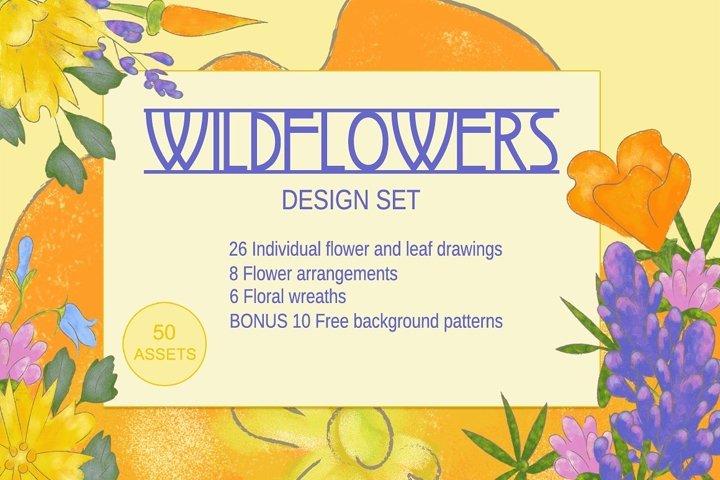 Wildflowers Graphics Design Set